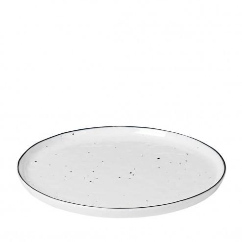 Broste Salt ontbijtbord met stippen 22cm, porselein
