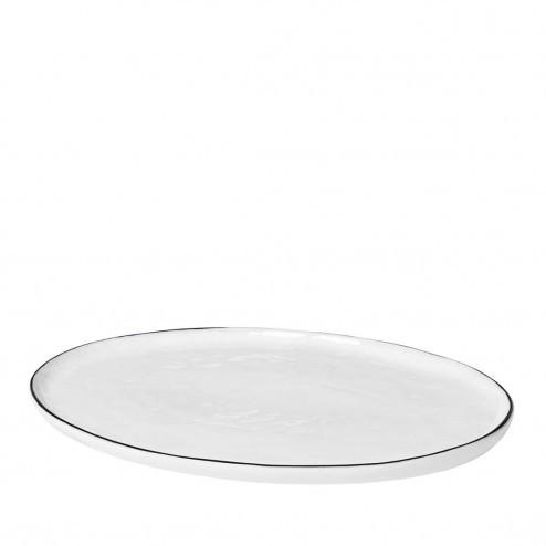 Broste Salt ovaal bord 30cm, porselein