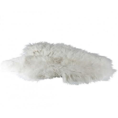 Broste IJslands schapenvel in wit, 100cm