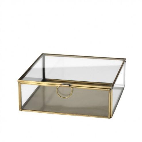 Broste Copenhagen glazen sieradendoos Janni, 20cm