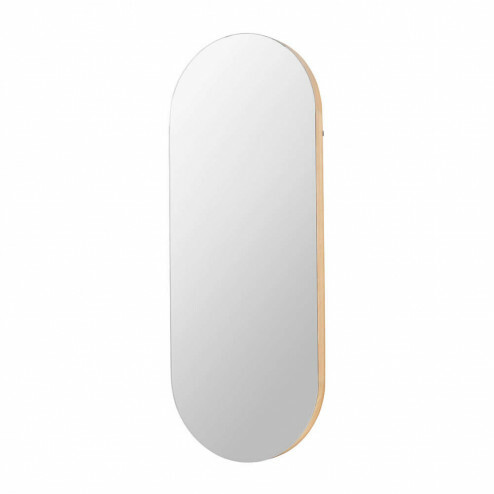 Broste Copenhagen houten spiegel 'Alva oval', 62x158cm