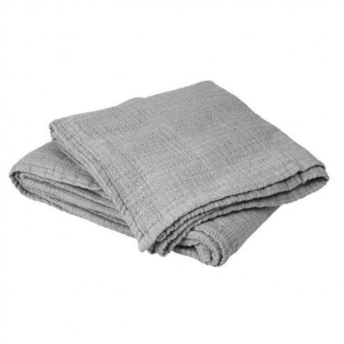 Bedsprei Pelle zacht grijs, 260x260 cm