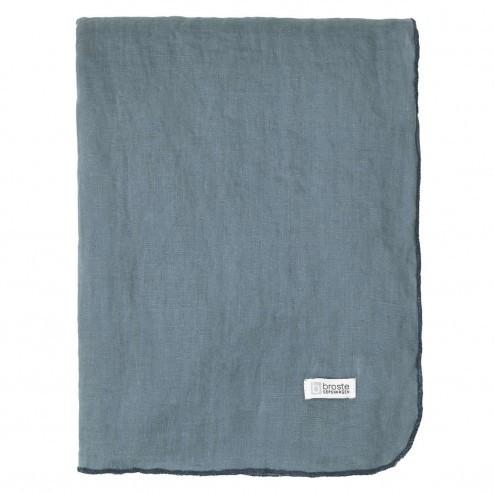 Tafelkleed Gracie van ECO linnen, blauw