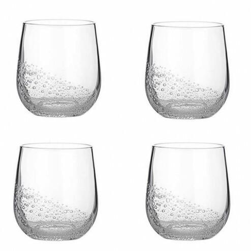 Broste Bubble tumbler glas (4 stuks), 35cl