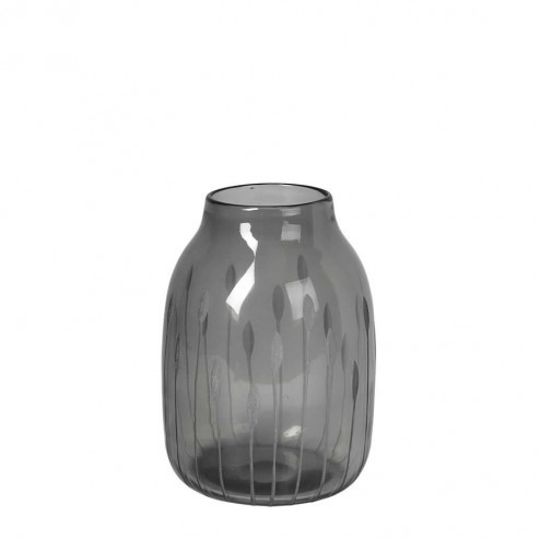 Broste Copenhagen vaas Shape, grijs glas, 22cm