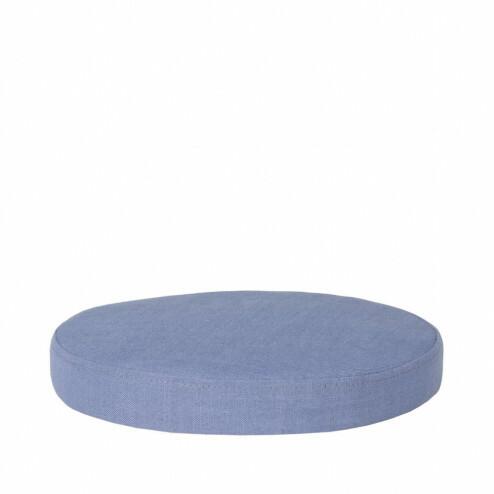 Broste rond zitkussen Ninna, Ø34cm, blauw