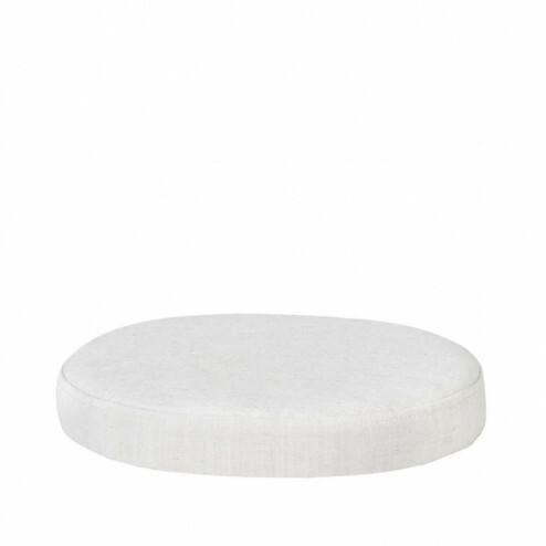 roste rond zitkussen Ninna, Ø34cm, wit