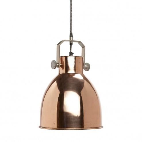 Hubsch grote ronde hanglamp van koper