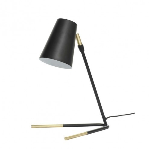 Hübsch Interior bureaulamp, zwart en messing, 44cm