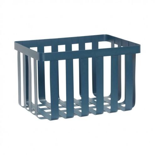 Hübsch metalen opbergmand in blauw