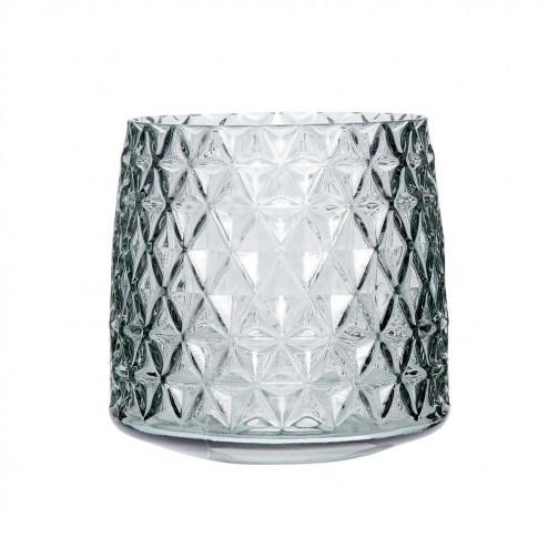 Hübsch glazen vaas met ruitpatroon