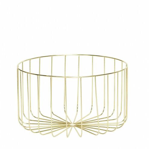 Hübsch ronde gouden draadmand, ø46x26cm