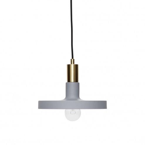 Hübsch Interior grijze metalen hanglamp, Ø25cm