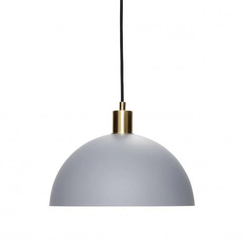 Hübsch Interior grijze metalen hanglamp, Ø30cm