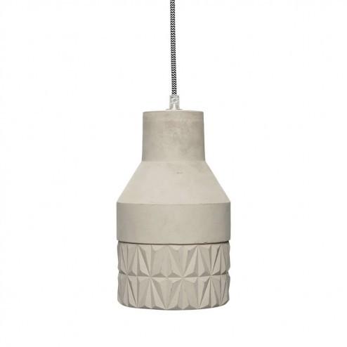 Hubsch betonnen hanglamp met uitgesneden patroon