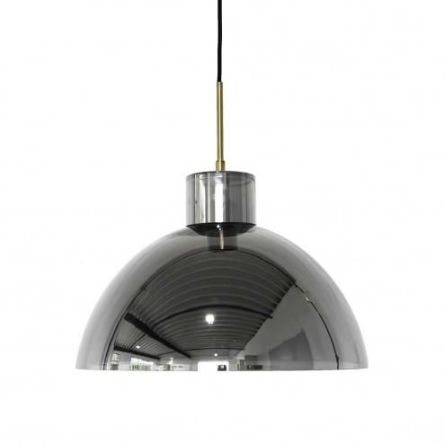 Hübsch Interior ronde hanglamp van gecoat glas, Ø40cm