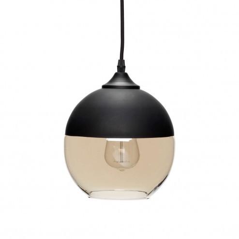 Hubsch hanglamp van getint glas en metaal, ø20cm