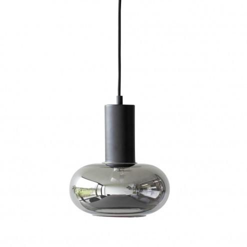 Hübsch Interior ronde hanglamp van spiegel rookglas, Ø20cm