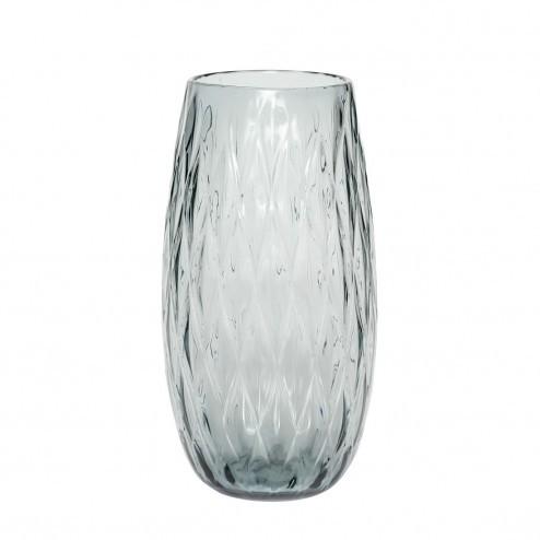 Hübsch hoge vaas van glas, rond