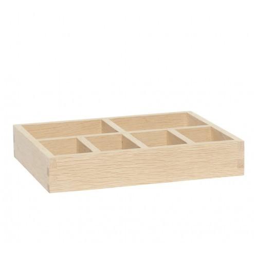 Hübsch eikenhout doos met vakjes