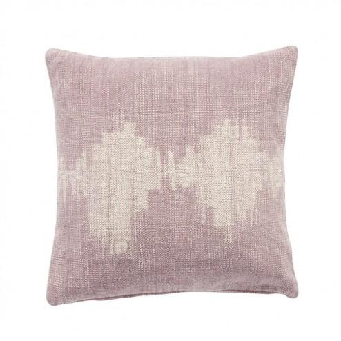 Hubsch sierkussen in roze met grafisch patroon, 50x50cm