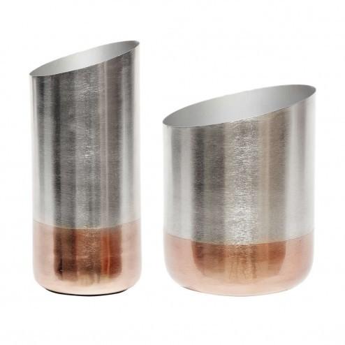 Hubsch metalen vazen (set van 2)
