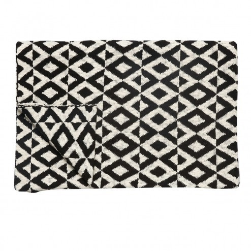 Hubsch plaid met zwart/beige patroon