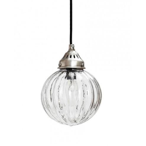 Hubsch ronde hanglamp van gebold glas