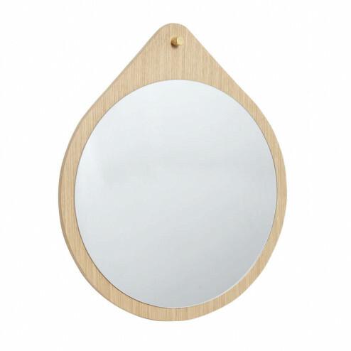 Hübsch ronde wandspiegel van eikenhout, Ø64cm