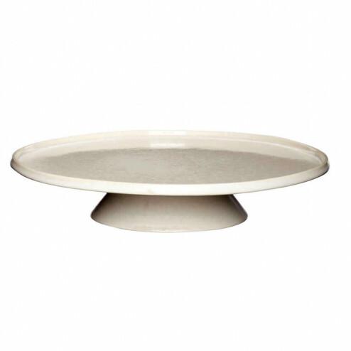 Hübsch taartplateau van beige keramiek, Ø32cm
