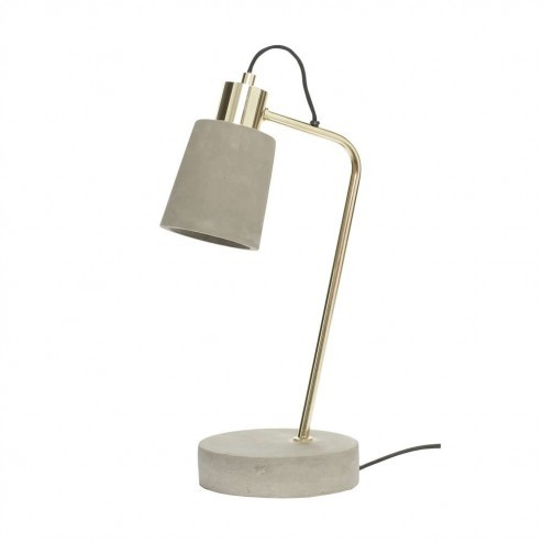 Hubsch bureaulamp met beton en messing