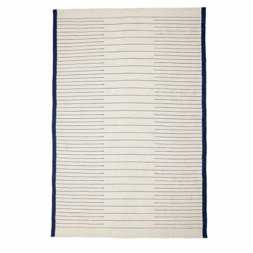 Hübsch blauw-wit vloerkleed, 200x300cm