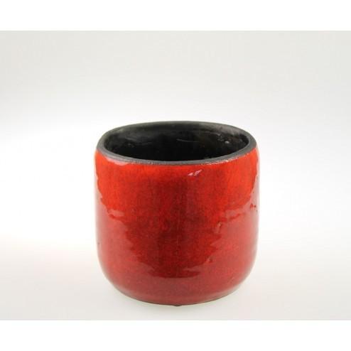 Bloempot Africa rood (17x16.5cm )