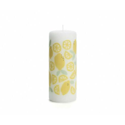 Rustik Lys sfeerkaars Lemons, 6x15cm