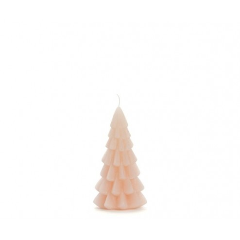 Rustik Lys kerstboom kaars, 6.3x12cm, blossom