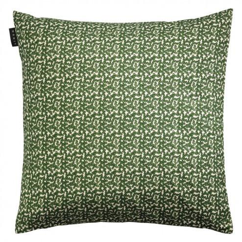 Linum kussenhoes Cress, bedrukt 50x50cm, groen