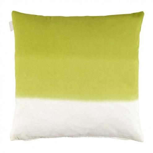 Linum kussenhoes Dye, tie-dye in groen 40x40cm
