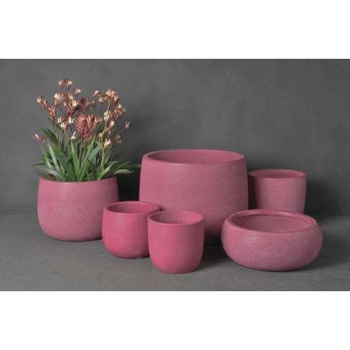 Bloempotten Micmac, fuchsia roze keramiek (glad)-D&M-32