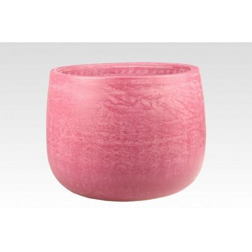 Bloempot Micmac fuchsia roze, glad (31.5x24.5cm)