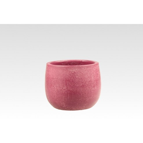 Bloempot Micmac fuchsia roze, glad (15.5x13cm)