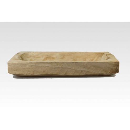 Paula rechthoekige houten schaal