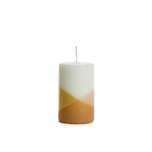 Rustik Lys kaars Cross, 6x10cm, blossom
