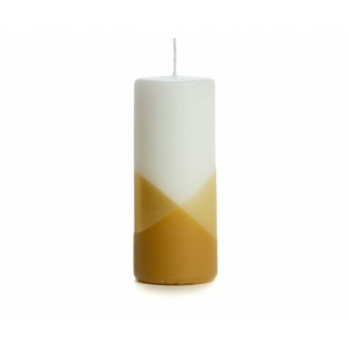 Rustik Lys kaars Cross, 6x15cm, zand
