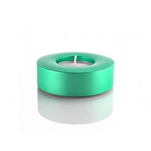 Waxinelicht houder turquoise, met theelichtje