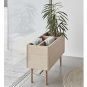 Hübsch plantenbak van eikenhout, 80cm