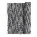 Broste vloerkleed Zigzag, donkergrijs, 70x140cm
